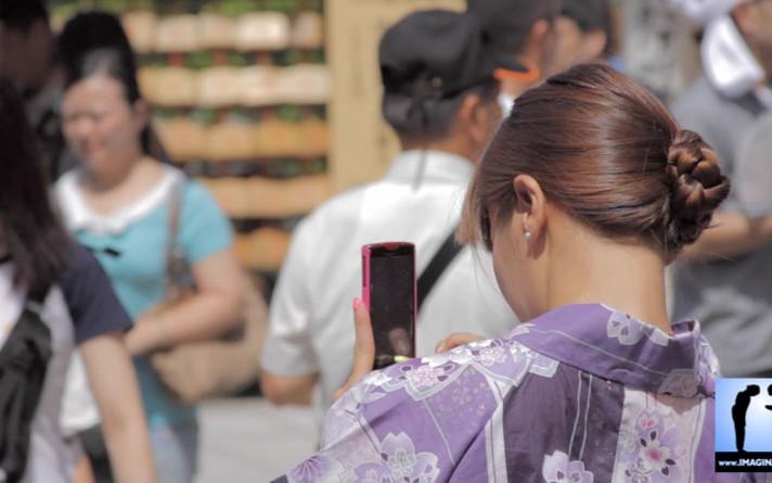 Femme en Kimono à Kyoto