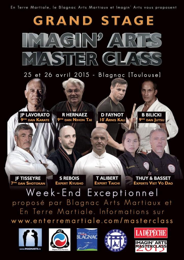 affiche masterclass 2015 arts martiaux Toulouse Blagnac
