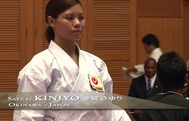 Championne du monde de kata karate Okinawa