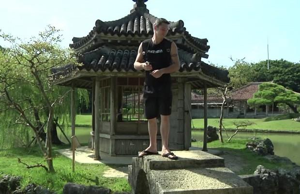 Lionel Froidure à Okinawa Japon