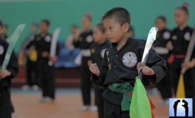 vo co truyen vietnam, enfant pratiquant les arts martiaux