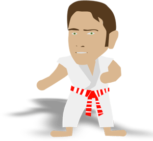 michel kervadec karate cartoon